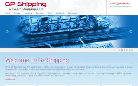 Screenshot of Home Page gp-shipping.com - GP Shipping Dry Cargo & Port Agency Services - captured Sept. 27, 2014