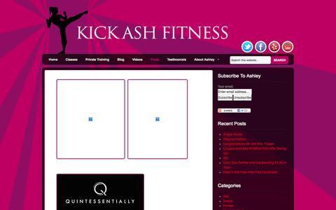 Screenshot of Press Page kickashfitness.net - Press - - captured Sept. 30, 2014