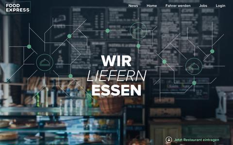 Screenshot of Home Page food-express.com - Food Express - Wir liefern Essen - captured Feb. 15, 2016