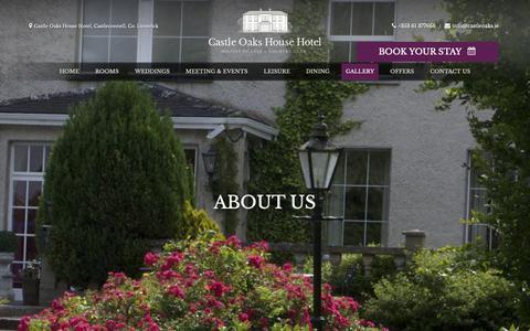 Screenshot of About Page castleoaks.ie - About Us | Castle Oaks Hotel - captured Sept. 27, 2018