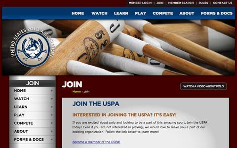 Screenshot of Signup Page uspolo.org - United States Polo Association - captured Oct. 27, 2014