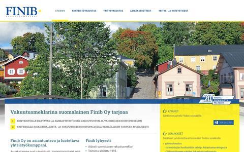 Screenshot of Home Page finib.fi - Finib - captured Sept. 8, 2015