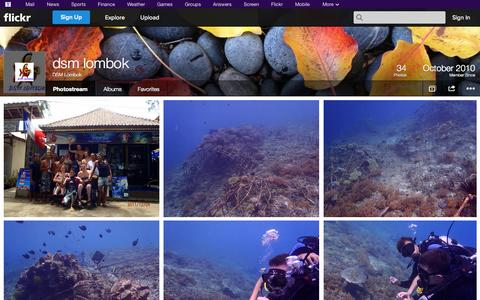 Screenshot of Flickr Page flickr.com - Flickr: DSM Lombok's Photostream - captured Oct. 23, 2014
