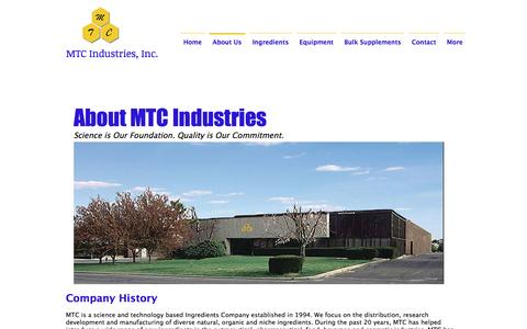 Screenshot of About Page mtcindustries.com - mtcindustries | About Us - captured May 25, 2017