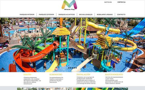 Screenshot of Home Page miracleplaypanama.com - Parques infantiles | Panamá | Parques Infantiles Miracle Play - captured Oct. 20, 2017