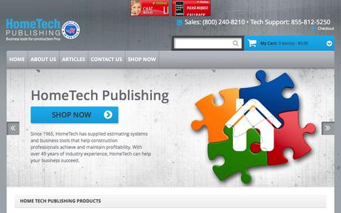 Screenshot of Contact Page hometechpublishing.com - Home page - captured Sept. 30, 2014