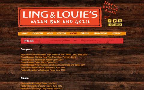 Screenshot of Press Page lingandlouies.com - Press | - captured Jan. 30, 2016