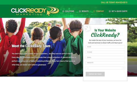 Screenshot of Team Page clickreadymarketing.com - Meet the Team | Atlanta SEO Company | ClickReady Marketing - captured July 19, 2018