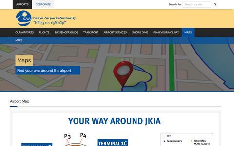Screenshot of Maps & Directions Page kaa.go.ke - Maps | Kenya Airports Authority - captured Aug. 31, 2016