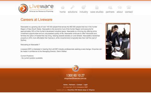 Screenshot of Jobs Page liveware.com.au - Careers at Liveware - captured Nov. 11, 2016