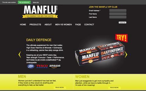 Screenshot of Press Page manflu.com - Press - Manflu.com - captured Nov. 5, 2014