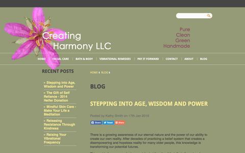 Screenshot of Blog creatingharmonyllc.com - Blog - Creating Harmony LLC - captured April 10, 2017