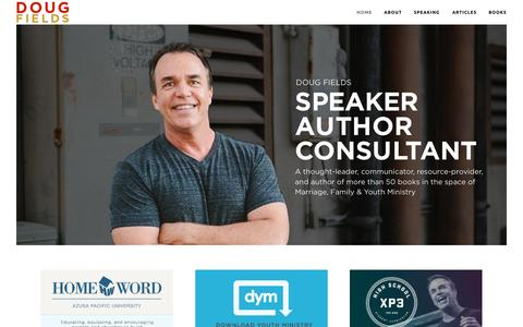 Screenshot of Home Page dougfields.com - dougfields - captured Oct. 9, 2015