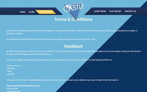 Screenshot of Terms Page castlebingo.co.uk - Terms & Conditions – Castle Bingo - captured July 17, 2017