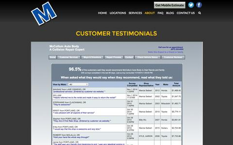 Screenshot of Testimonials Page bigbluem.com - TESTIMONIALS - Big Blue M - captured Nov. 2, 2014