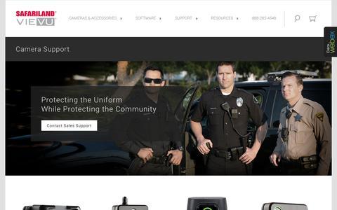 Screenshot of Support Page vievu.com - Support | VIEVU® Body Worn Cameras - captured July 29, 2017