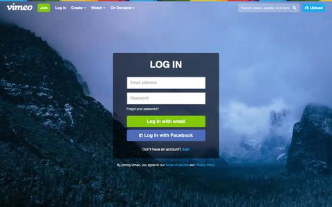 Screenshot of Login Page vimeo.com - Log in to Vimeo - captured Dec. 24, 2015