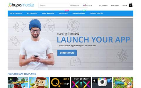 Screenshot of Home Page chupamobile.com - Chupamobile Marketplace - Launch your App - captured March 15, 2016