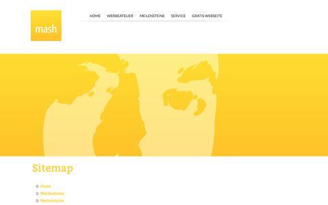Screenshot of Site Map Page mashart.com - Sitemap - Martin Stock • Atelier für Werbung, Kunst und Kultur - captured Oct. 17, 2017
