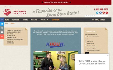 Screenshot of Press Page texastamale.com - Texas Tamale Company | NEWS | Houston, TX - captured Dec. 16, 2016