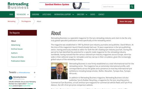 Screenshot of About Page retreadingbusiness.com - About   Retreading Business - captured Oct. 18, 2018