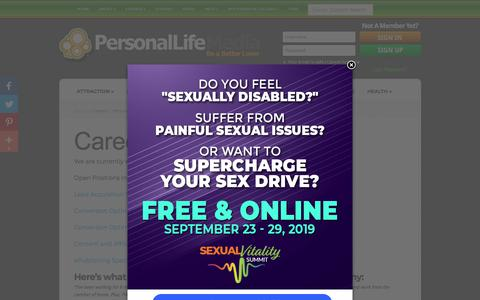 Screenshot of Jobs Page personallifemedia.com - Careers | Personal Life Media - captured Sept. 19, 2019