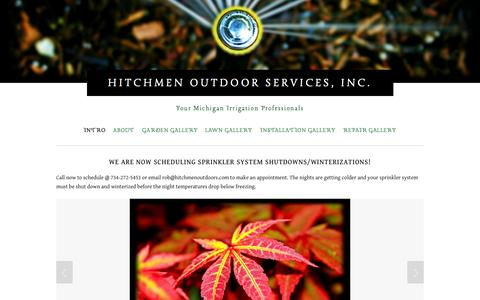 Screenshot of Home Page yourmip.com - Hitchmen Outdoor Services, Inc. - captured Oct. 3, 2014