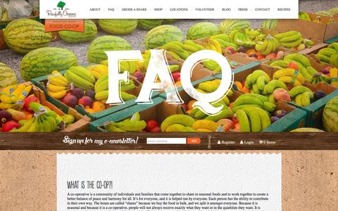 Screenshot of FAQ Page rawfullyorganic.com - Faq | Rawfully Organic - captured Nov. 23, 2015