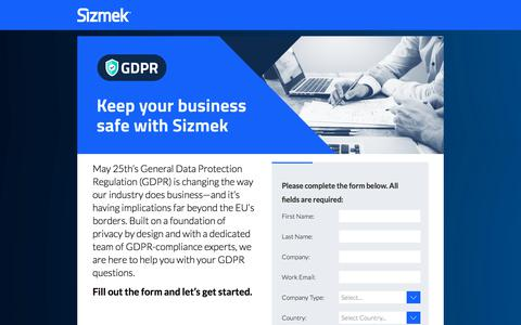 Screenshot of Landing Page sizmek.com - Sizmek Inc. - captured May 31, 2018