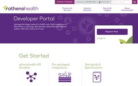 Developer Portal | athenahealth