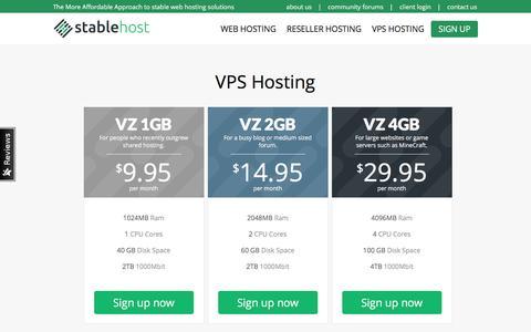 VPS Hosting | StableHost