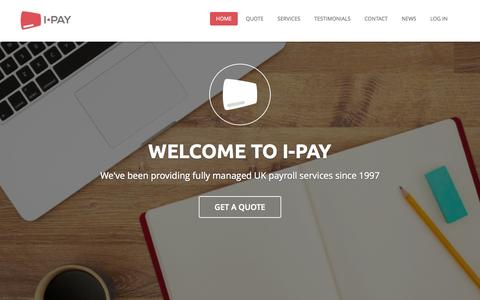 Screenshot of Home Page i-pay.co.uk - I-PAY - UK Payroll Services - captured Jan. 23, 2015