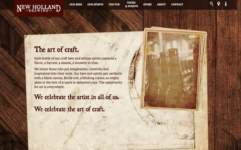 Screenshot of About Page newhollandbrew.com - About | New Holland Brewing - captured Oct. 26, 2014