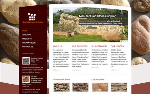 Screenshot of Home Page manufactured-stone.com - Manufactured Stone | Cultured Stone Supplier | Culture Stone - captured Sept. 19, 2015
