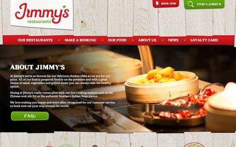 Screenshot of About Page jimmysrestaurants.com - About Us | Jimmy's Restaurants | UK Buffet Restaurants & Multi-Cuisine - captured Nov. 3, 2014