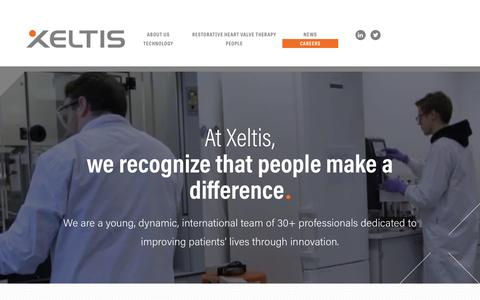 Screenshot of Jobs Page xeltis.com - Be a part of the future of the biomedical industry : Xeltis - captured May 27, 2017
