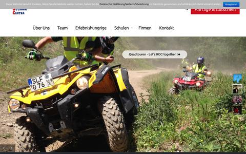 Screenshot of Home Page rennsteig-outdoor-center.com - Rennsteig Outdoor Center - captured May 31, 2018