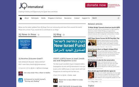 Screenshot of Blog jqinternational.org - Blog | JQ International - captured Sept. 30, 2014