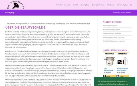 Screenshot of Home Page die-beautyecke.de - Die Beautyecke: Beauty, Haut, Kosmetik, Schminken & Parfüm - captured Sept. 26, 2018