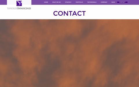 Screenshot of Contact Page sandler-innocenzi.com - Sandler-Innocenzi Contact - Sandler-Innocenzi - captured Dec. 17, 2015