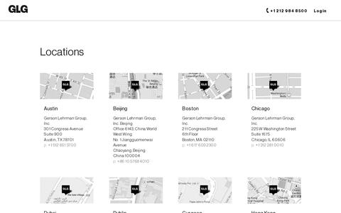 Screenshot of Locations Page glg.it - Locations | GLG - captured July 19, 2014