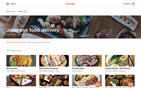 Japanese food delivery | Caviar