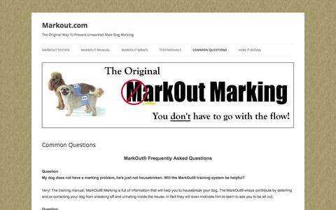 Screenshot of FAQ Page markout.com - Markout Marking - Frequently Asked Questions   Markout.com - captured April 10, 2017