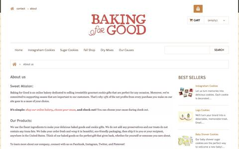 Screenshot of About Page bakingforgood.com - About us - Baking For Good - captured Oct. 5, 2014