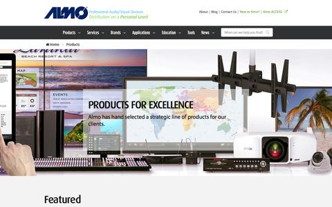 Screenshot of Products Page almoproav.com - Buy Audio/Visual Products and AV Equipment distributed by Almo ProAV. - captured Feb. 5, 2016