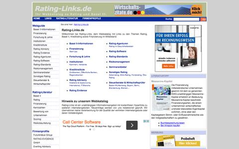Screenshot of Home Page rating-links.de - Rating-Links.de - Rating-Links.de - captured June 6, 2016