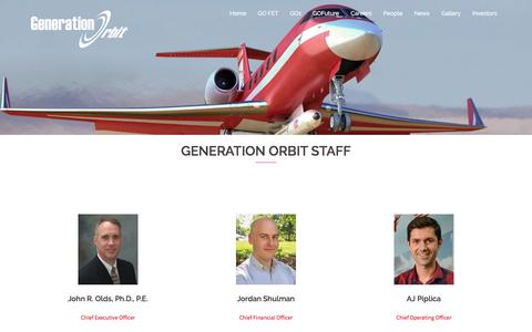 Screenshot of Team Page generationorbit.com - People – Generation Orbit - captured Nov. 4, 2016