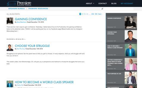 Screenshot of Blog premierespeakers.com - Resources |          Premiere Speakers Bureau - captured Dec. 12, 2018