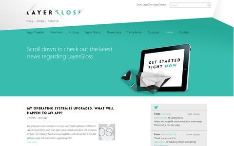 Screenshot of Press Page layergloss.com - News   LayerGloss - captured July 19, 2014