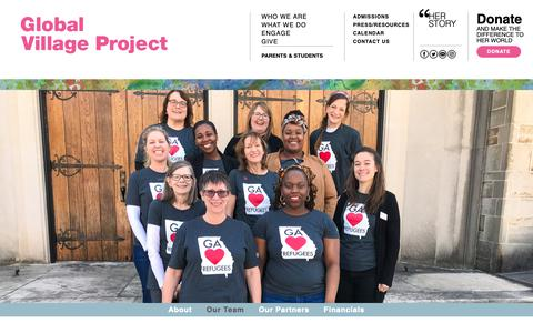 Screenshot of Team Page globalvillageproject.org - Our Team – Global Village Project - captured Oct. 20, 2018